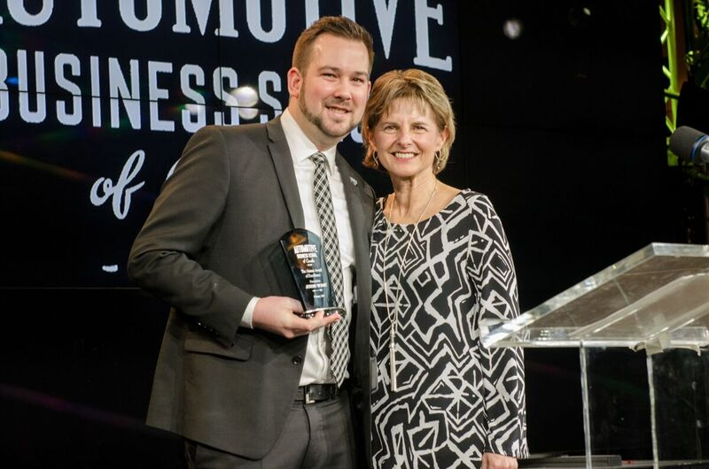 Jeremy Wyant receives the 2017 Automotive Business School of Canada Alumni Award