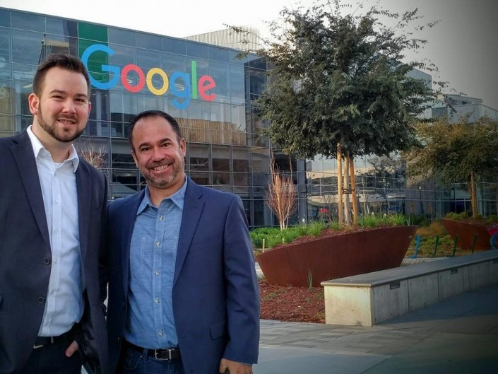 Jeremy and Mark at Google Silicon Valley